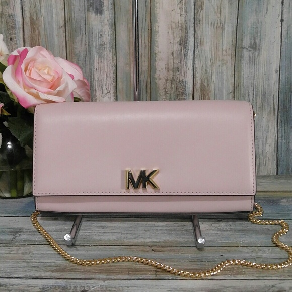 0bd266388992 Michael Kors Pink Mott Shoulder Bag Clutch